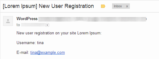 غیر فعال کردن ایمیل ثبت نام کاربر جدید