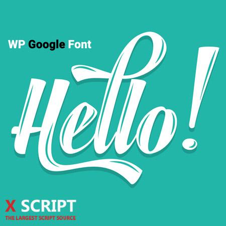 افزونه WP Google Font
