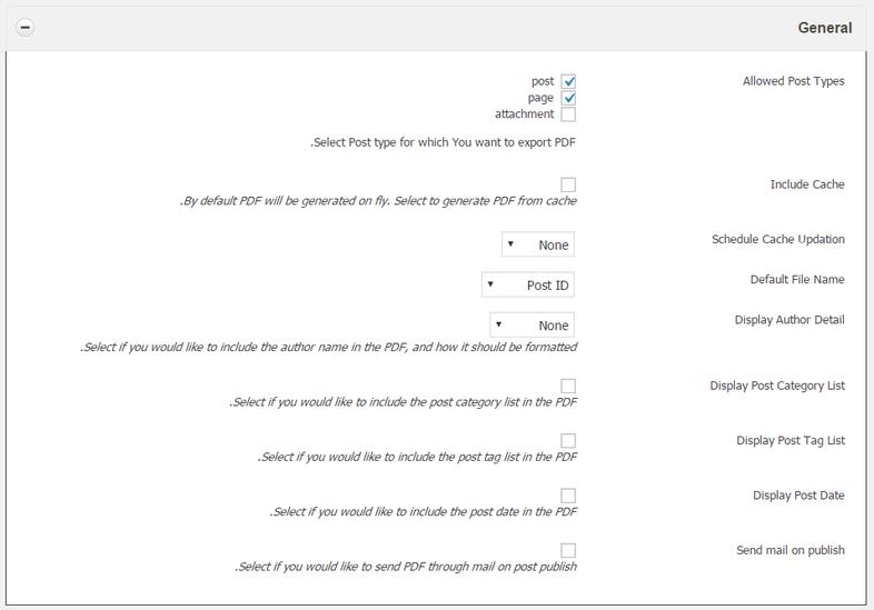 افزونه WP Advanced PDF