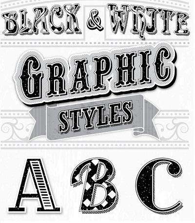 استایل Black & White برای فتوشاپ
