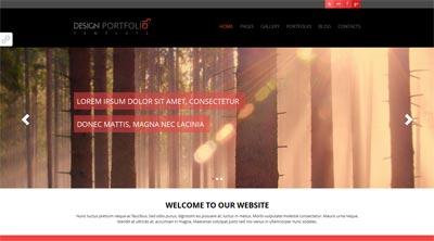 قالب Design Portfolio به صورت HTML