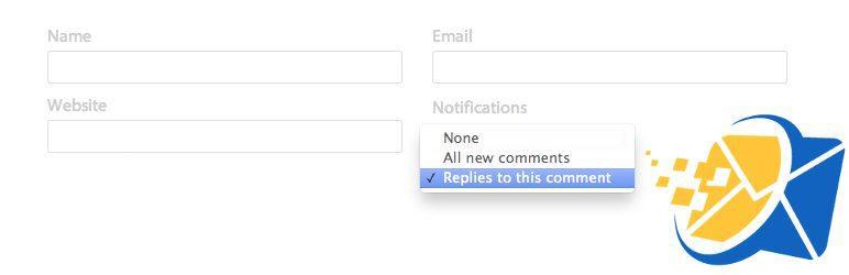 ارسال ایمیل بعد از پاسخ دادن به نظرات