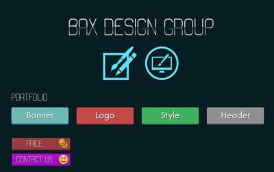 قالب بکس گرافیک به صورت HTML