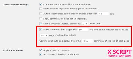 صفحه بندی نظرات در وردپرس
