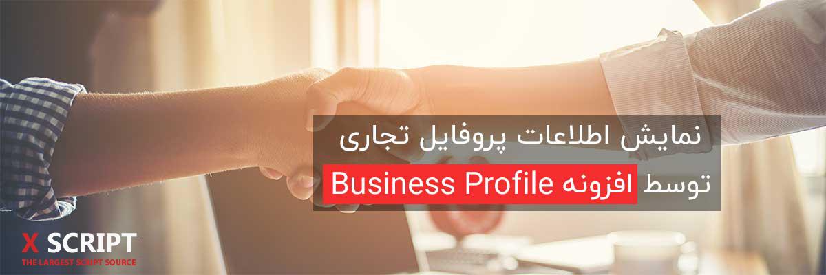 نمایش اطلاعات پروفایل تجاری