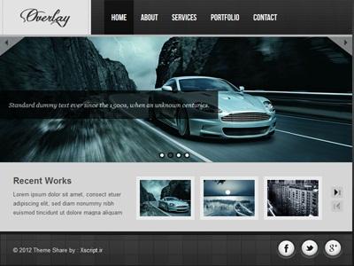 قالب سایت شخصی overlay به صورت html