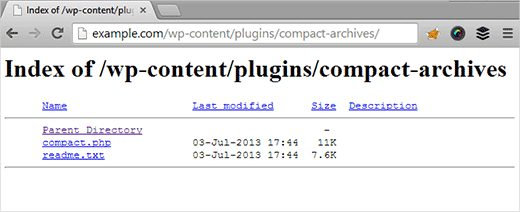 غیر فعال کردن Directory Browsing