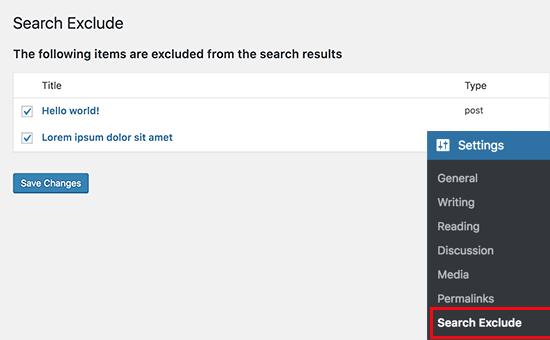حذف صفحات خاص، نویسنده ها و سایر موارد