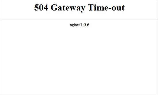رفع ارور 504 Gateway Timeout
