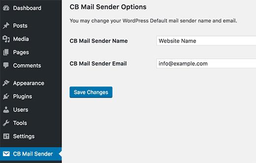 تغییر نام فرستنده ی ایمیل