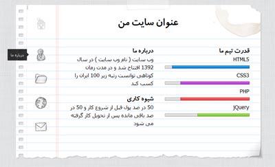 قالب فارسی دفترچه به صورت HTML