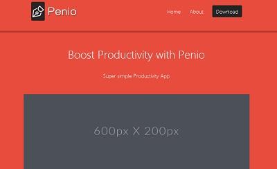 قالب penio به صورت html