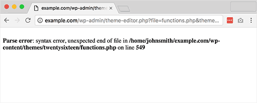 """رفع خطای """"Syntax Error"""" در وردپرس"""