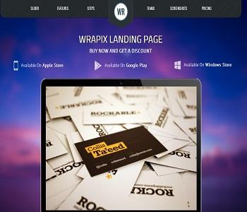 قالب پیشرفته برای وب سایت طراحی