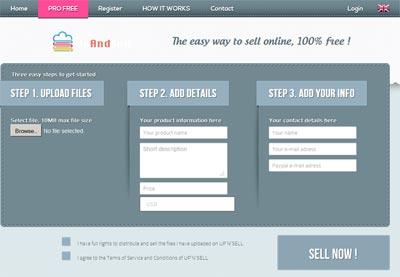 اسکریپت فروش فایل Upandsell
